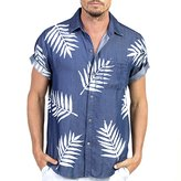 Sol Angeles Palm Short Sleeve Button Down Shirt
