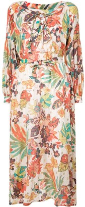 Bambah Selva floral print kaftan dress