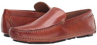 Lucchese After-Ride Driving Moccasin (Cognac Florence Buffalo Calf) Men's Shoes