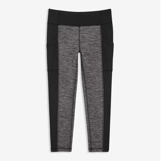 Joe Fresh Kid Girls' Fleece Active Legging, Charcoal Mix (Size M)