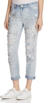 True Religion Embellished Audrey Slim Boyfriend Jeans in New City