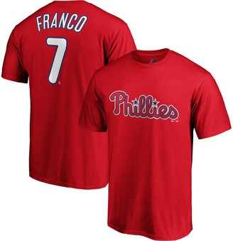 Majestic Men's Maikel Franco Red Philadelphia Phillies Official Name & Number Player T-Shirt