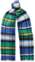 Burberry Runway Checked Wool Scarf - Multi