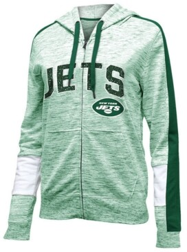 5th & Ocean Women's New York Jets Space Dye Full-Zip Hoodie