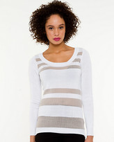 Le Château Stripe Scoop Neck Sweater