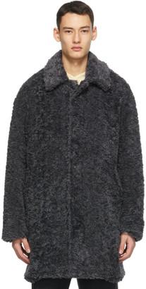 Deveaux Grey Faux-Fur Coat