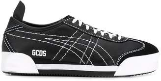 GCDS Mexico contrast stitching sneakers