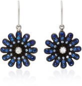 Nam Cho 18K White Gold, Blue Sapphire and Diamond Earrings