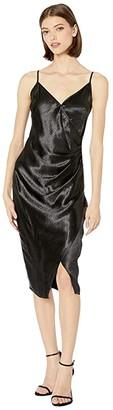 BCBGeneration Side Pleated Cami Dress TOE6266889 (Black) Women's Clothing