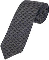 Oxford Silk Tie Dmnd Reg Ink/Brz X