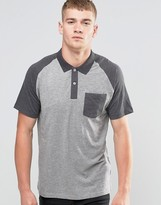 Jack and Jones Contrast Raglan Polo