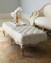 Horchow Milania Tufted Ottoman
