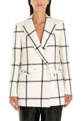 BLAZÉ MILANO Checkered Print Double Breasted Blazer