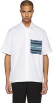 Oamc White Knit Pocket Shirt