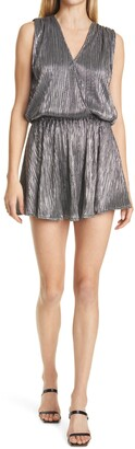 Ramy Brook Maya Metallic Sleeveless Minidress