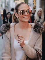 Quay The Playa Sunglasses in Gold/Brown as seen on Jennifer Lopez