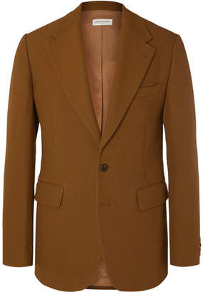 Dries Van Noten Light-Brown Bareno Slim-Fit Textured-Wool Suit Jacket