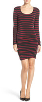 Felicity & Coco Stripe Ruched Jersey Body-Con Dress (Regular & Petite) (Nordstrom Exclusive)