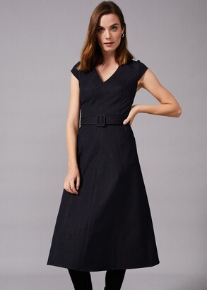 Phase Eight Timothia Denim Fit And Flare Dress
