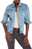six crisp days Embroidered Jean Jacket