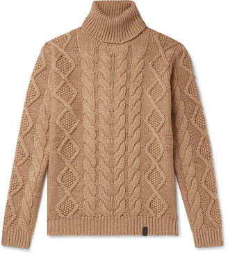 Tod's Cable-Knit Merino Wool Rollneck Sweater