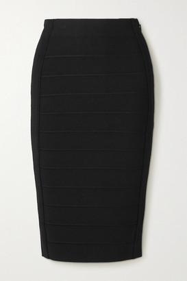 Herve Leger Bandage Midi Skirt - Black
