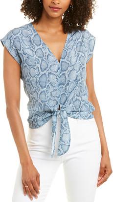 Acrobat Tie-Front Silk Top