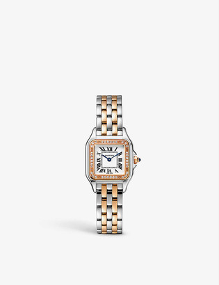 Cartier W3PN0006 Panthere de 18ct rose-gold, stainless steel and diamond watch