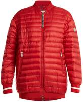Moncler Charoite quilted down bomber jacket