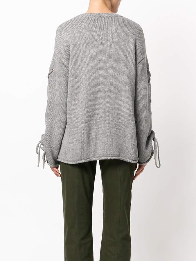 See by Chloe cross-tie sleeve sweater