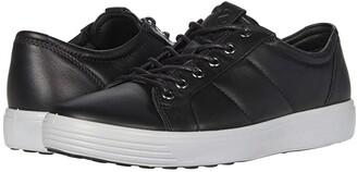 Ecco Soft 7 Premium Sneaker (Black/Concrete) Men's Shoes