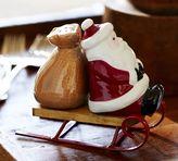 Pottery Barn Santa Sled Salt & Pepper Shaker Set
