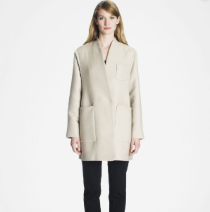 Marimekko Beige Hele Straight Cut Coat - M - Natural