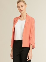 DKNY Knotted Sleeve Open-front Cardigan