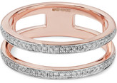 Monica Vinader Skinny Double Band Rose Gold Vermeil Diamond Ring - P
