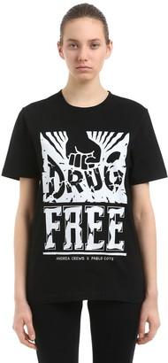 Andrea Crews Pablo Cots Drug Free Jersey T-shirt