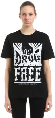 Andrea Crews Pablo Cots Drug Free Jersey T-Shirt