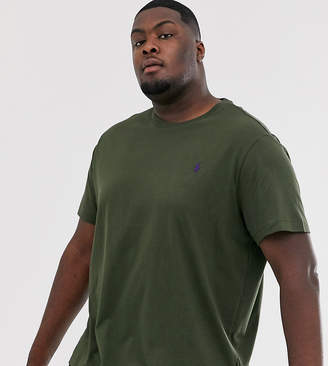 Big & Tall player logo t-shirt in olive green