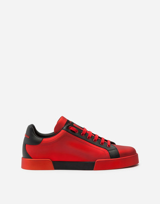 Dolce & Gabbana Portofino Sneakers In Nappa Leather