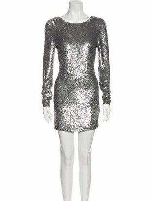 Ashish Silk Mini Dress Grey