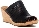 Rockport Briah Slide Leather Wedge Sandal