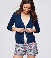 LOFT 3/4 Sleeve Signature V-Neck Cardigan