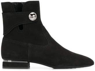 Tod's side button ankle boots