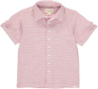 Me & Henry Boy's Striped Button-Front Shirt w/ Children's Book, Size 3T-10