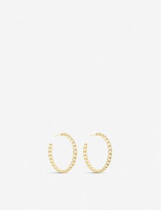 Kendra Scott Fallyn 14ct gold-plated brass hoop earrings