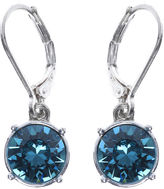 Gloria Vanderbilt Blue Crystal Silver-Tone Drop Earrings