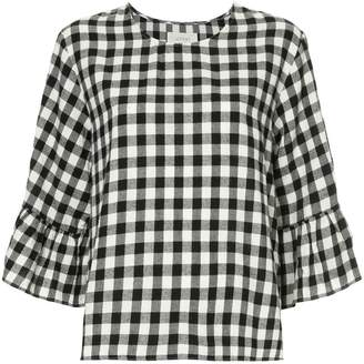 The Great Sweetie check ruffle blouse