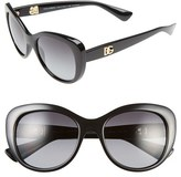 Dolce & Gabbana Women's 'Urban Essential' 54Mm Polarized Sunglasses - Black
