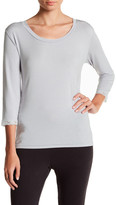 Barefoot Dreams Scoop Neck 3/4 Sleeve Shirt