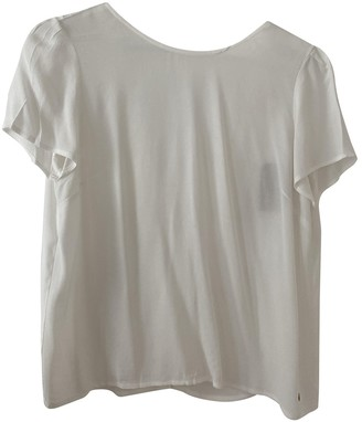 Des Petits Hauts White Silk Top for Women